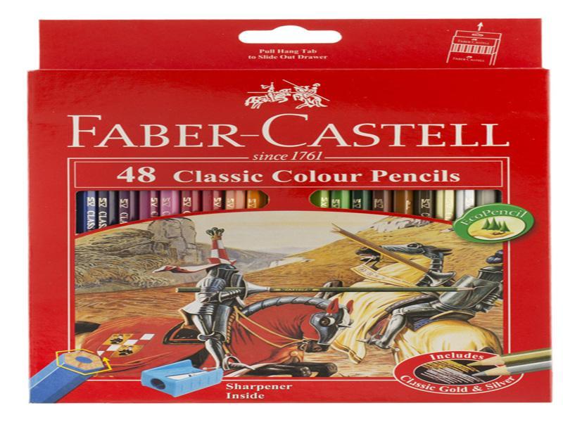 مداد رنگی-فابرکاستل-مداد رنگی 48 رنگ فابر-کاستل مدل Classic Faber-Castell Classic 48 Color Pencil-مدادرنگی-مدادرنگی48رنگ فابرکاستل-مداد رنگی فابرکاستل