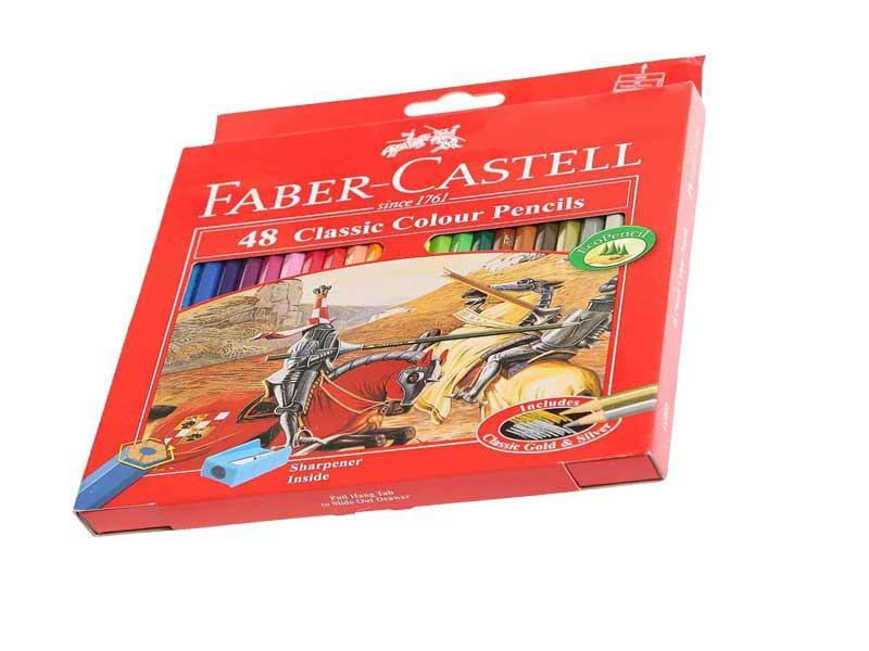 مداد رنگی - فابرکاستل - مداد رنگی 48 رنگ فابر-کاستل مدل Classic Faber-Castell Classic 48 Color Pencil - مدادرنگی - مدادرنگی48رنگ فابرکاستل - مداد رنگی فابرکاستل
