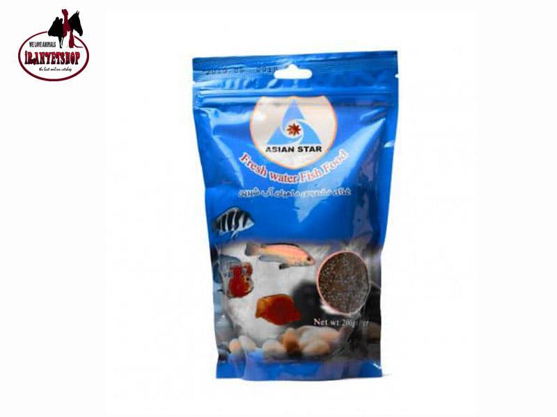 غذای ماهی 200گرمی-غذای ماهیان آب شیرین