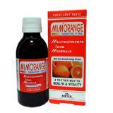 شربت میم اورنج Mimorange / هر بسته حاوی یک شیشه شربت 200 سی سی / مولتی ویتامین مینرال / تولید شرکت ویتابیوتکس / تحت لیسانس MEYER کشور انگلستان