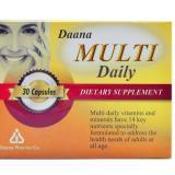 مولتی دیلی دانا Daana Multi Daily / هر بسته حاوی 30 عدد کپسول سافت ژل مولتی دیلی دانا/ تولید شده در کارخانه دانا فارما
