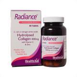 رادیانس قرص رادیانس هلث اید محصولی مناسب برای کمک به سلامت پوست، مو وناخن است. این مکمل حاوی کلاژن هیدرولیز شده است و همین امر اثر بخشی این قرص را افزایش داده است. کلاژن یکی از اجزای اصلی بافت پوست است که به تقویت پوست کمک می کند و قابلیت ارتجاعی و آبرسانی به آن می بخشد.