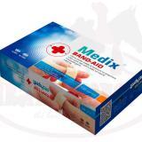 چسب زخم مدیکس بسته 100 عددی چسب زخم پارچه ای ضد حساسیت مدیکس دارای ویژگی کششی با الیاف نازک است، به زخم نمی چسبد و براحتی از روی پست جدا می شود.